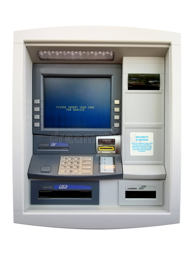 atm自动化查出的设备出纳员 免版税库存图片