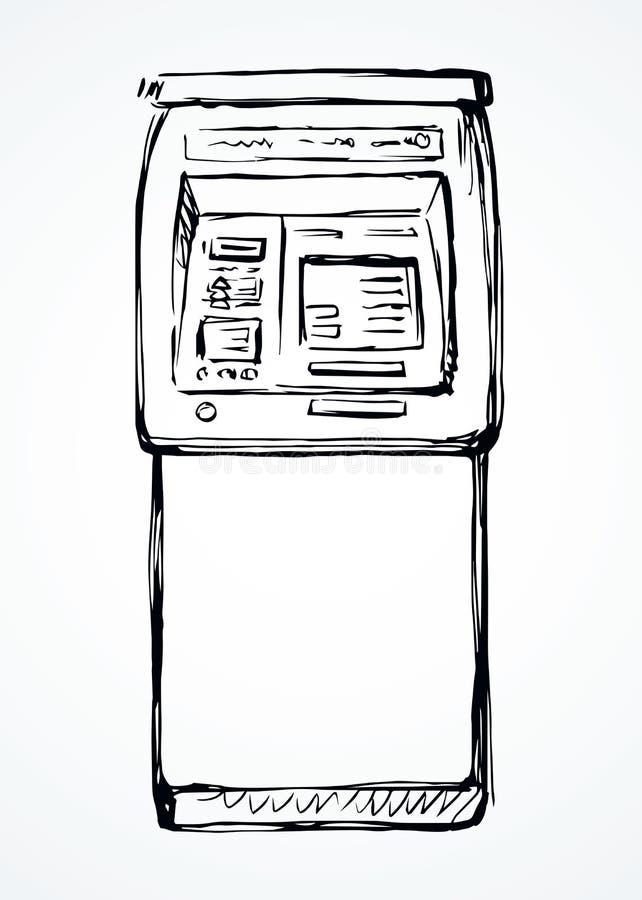 ATM设备象 r 向量例证