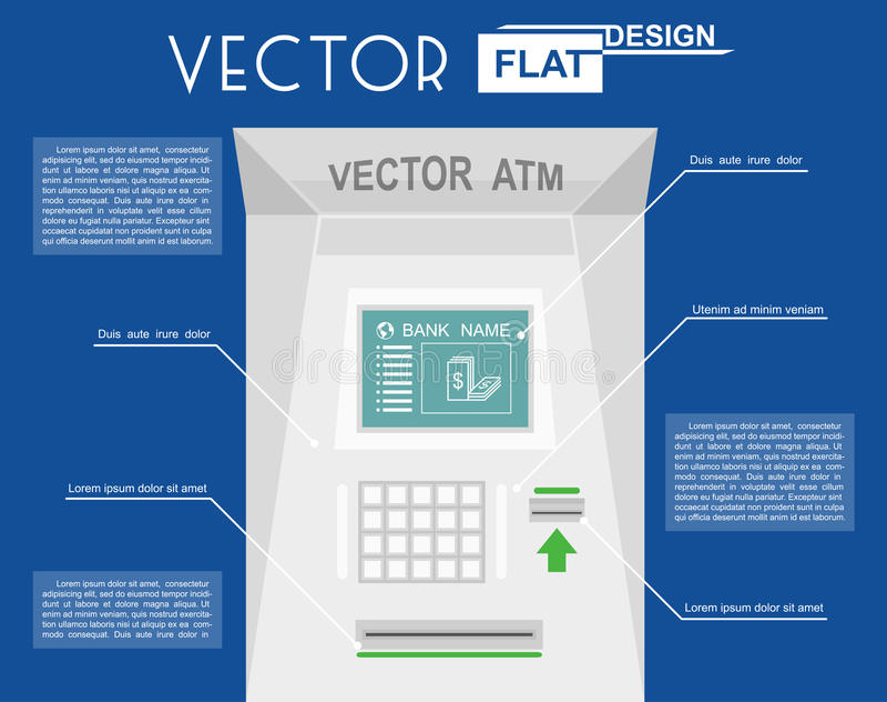 Atm плоско infographic иллюстрация вектора