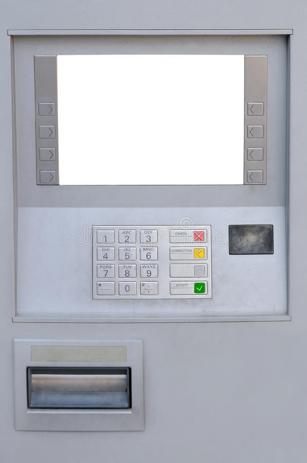 ATM. With blank display for advertising royalty free stock photography