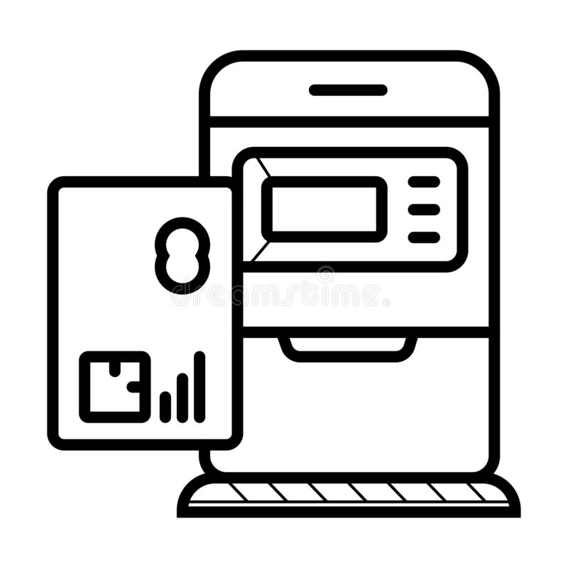 ATM - Automated Teller Machine Icon Vector. Money Automat vector illustration