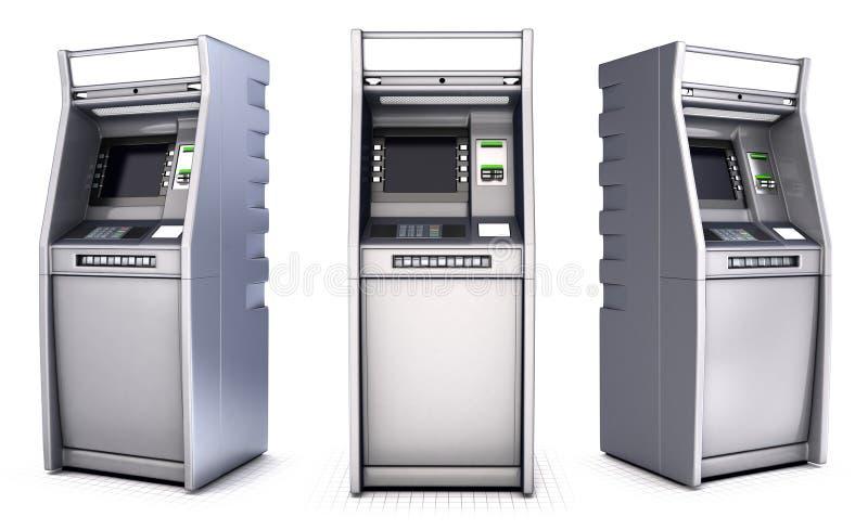 Atm-bankbankomater Isolerat på vit vektor illustrationer