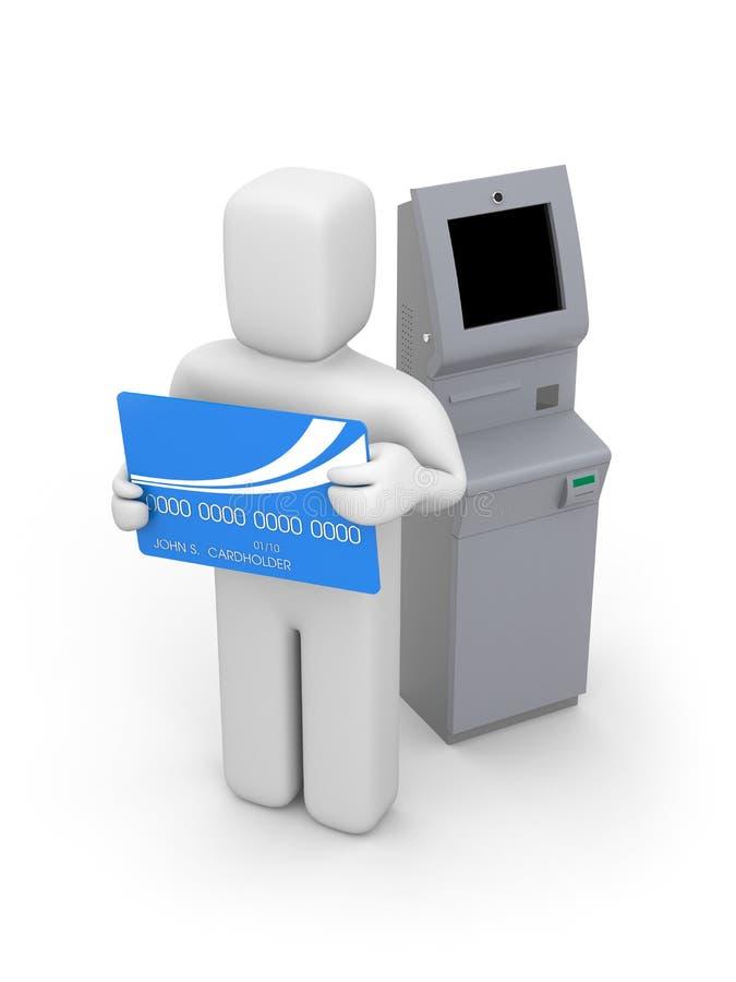 atm bankcard maszyny osoba ilustracji