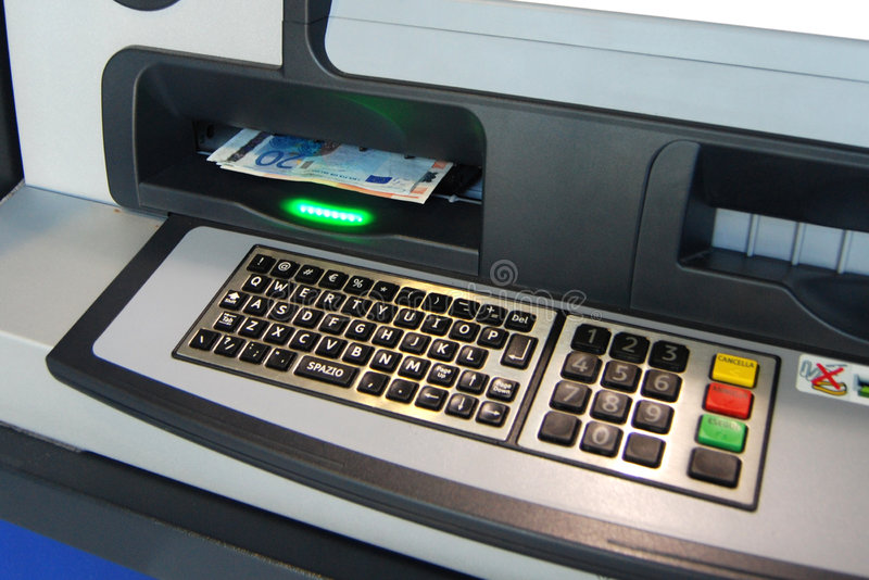 ATM - Bargeldpunkt lizenzfreie stockbilder