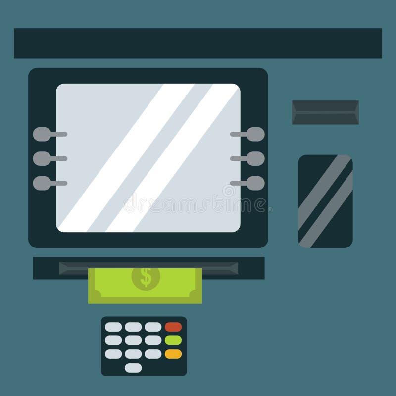 Free ATM Cash Dispenser Vector Illustration. Royalty Free Stock Photography - 83063407