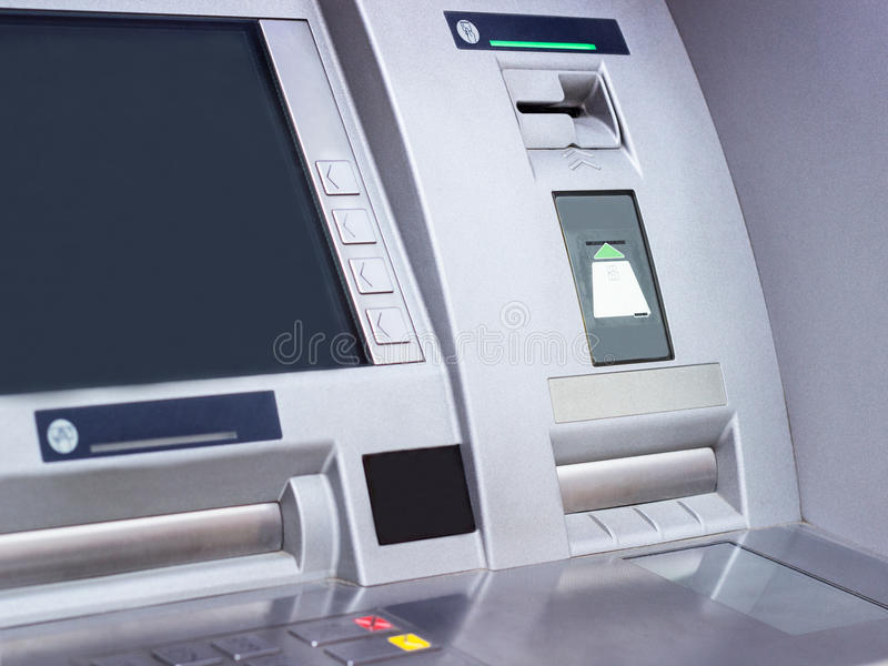 ATM cash machine. Automated Teller Machine close-up stock photography
