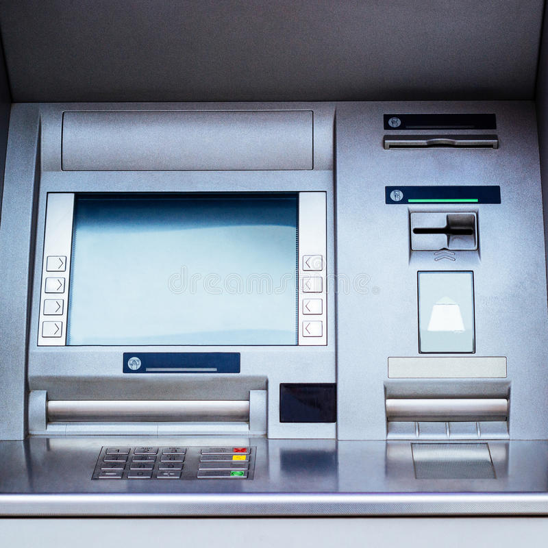 ATM cash machine - Automated Teller Machine. Close-up royalty free stock images