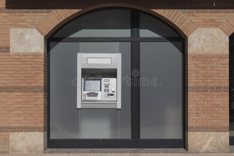 ATM cash machine. In a bank office stock images