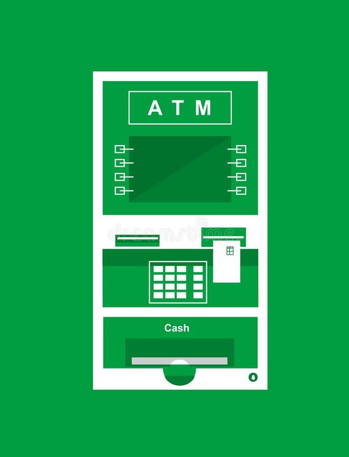 ATM, contant geldmachine stock illustratie
