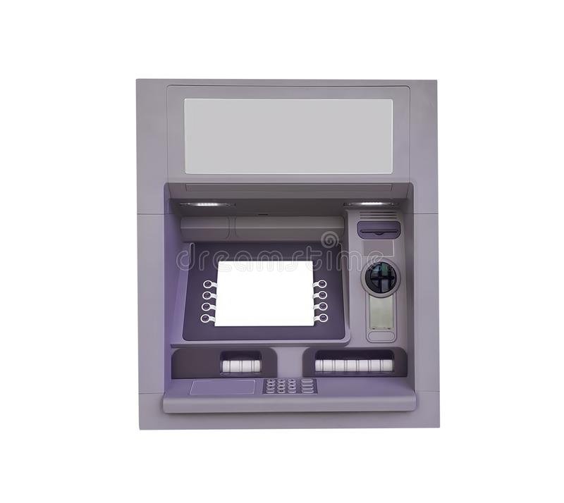 Free ATM For Money Withdrawal Isolated Royalty Free Stock Image - 111017476