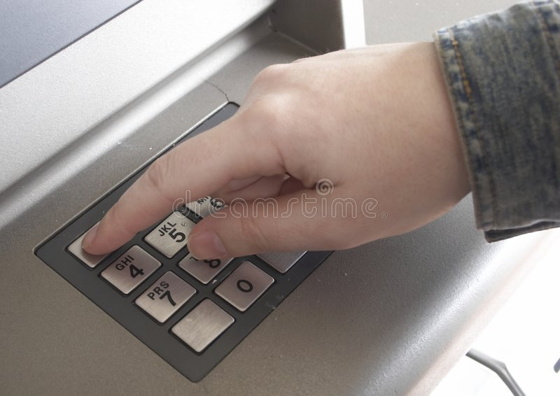ATM Hand royalty free stock image