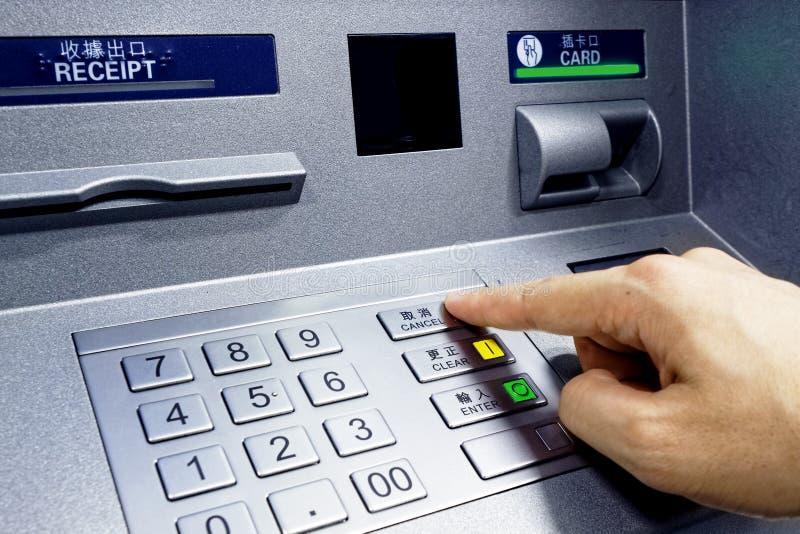 ATM - hereinkommender Stift lizenzfreie stockfotografie