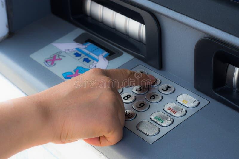 ATM i kredytowa karta obraz royalty free