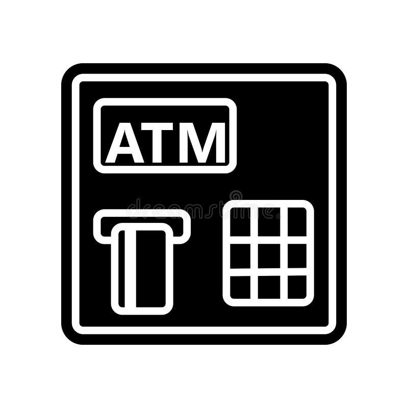 ATM-Ikone Element der Finanzierung f?r bewegliches Konzept und Netz Appsikone Glyph, flache Ikone f?r Websiteentwurf und Entwickl vektor abbildung