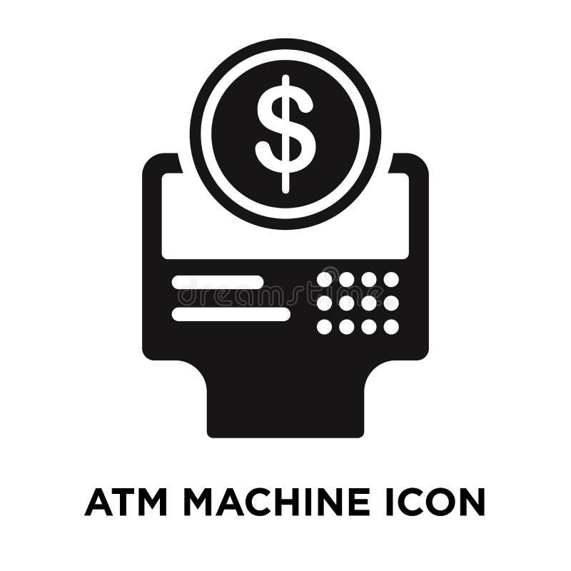 Atm ikony maszynowy wektor odizolowywający na białym tle, loga conce royalty ilustracja