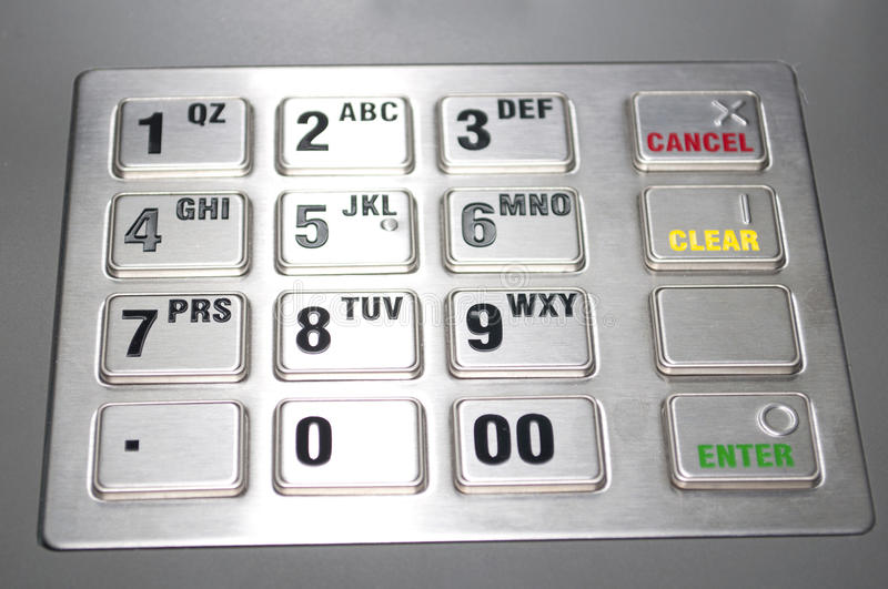 ATM keypad royalty free stock photography