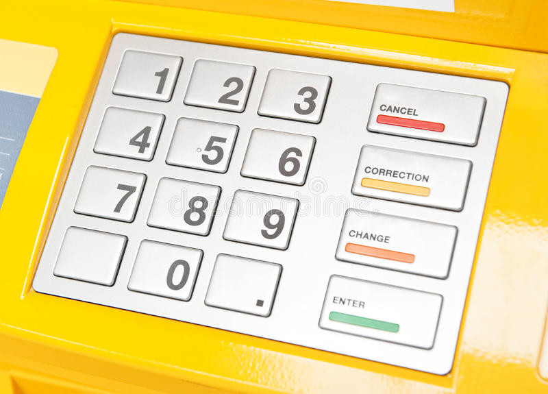 ATM keypad royalty free stock photo