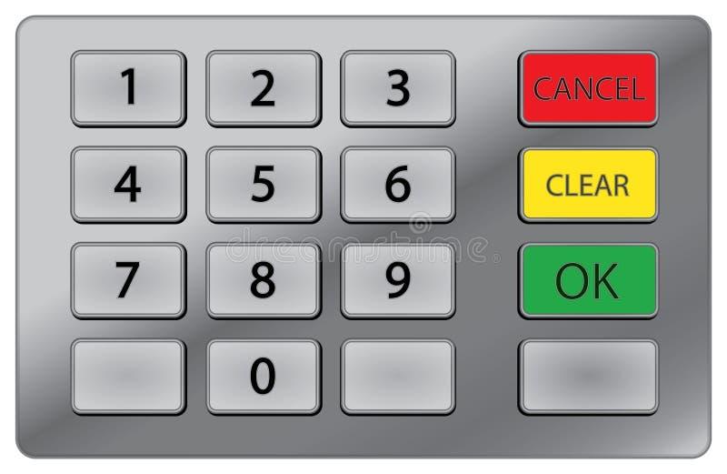 ATM keypad. Pin keypad used on atm royalty free illustration