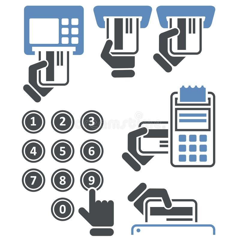 ATM klawiatura i Terminal - kredytowej karty zapłata royalty ilustracja