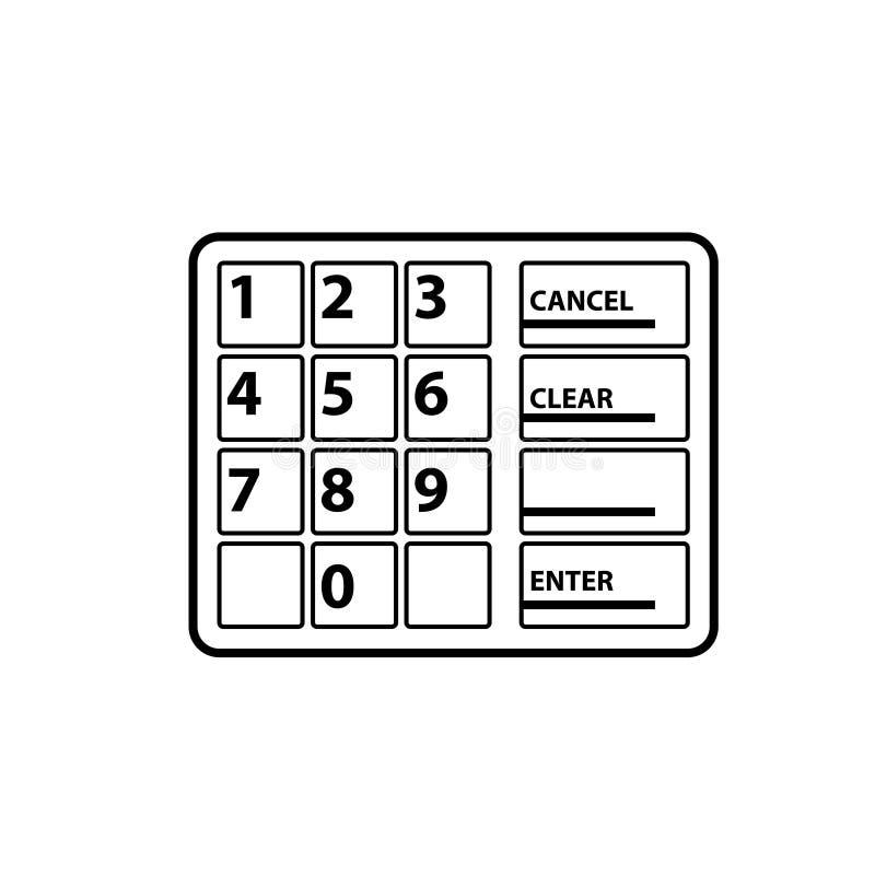 Atm klawiatury konturu ikona royalty ilustracja