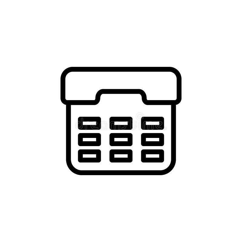 ATM-Knopfikone Element der einfachen Ikone für Website, Webdesign, bewegliche APP, Informationsgraphiken Starke Linie Ikone für d stock abbildung