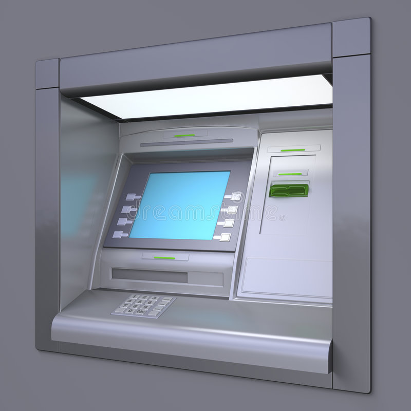 Download ATM machine stock illustration. Illustration of checking - 3910280