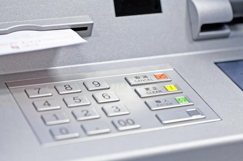 ATM machine in bank. It is an ATM machine in bank royalty free stock images