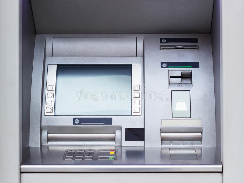 ATM machine. ATM cash machine - Automated Teller Machine close-up royalty free stock photos