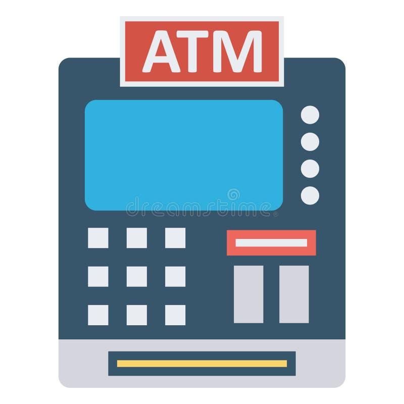 Atm, atm machine Color Vector ikona, którą można łatwo zmodyfikować lub edytować royalty ilustracja