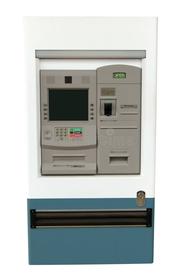 ATM machine - Isolated royalty free stock photos