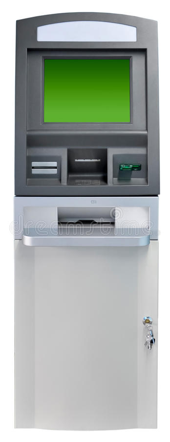 ATM machine isolated. Automated Teller Machine-ATM on white background stock images