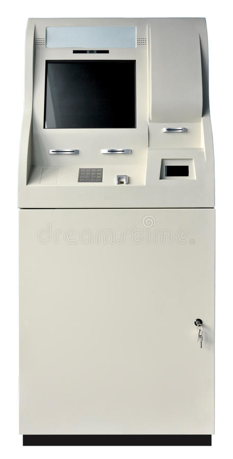 Download ATM machine isolated stock photo. Image of deposit, code - 18445454