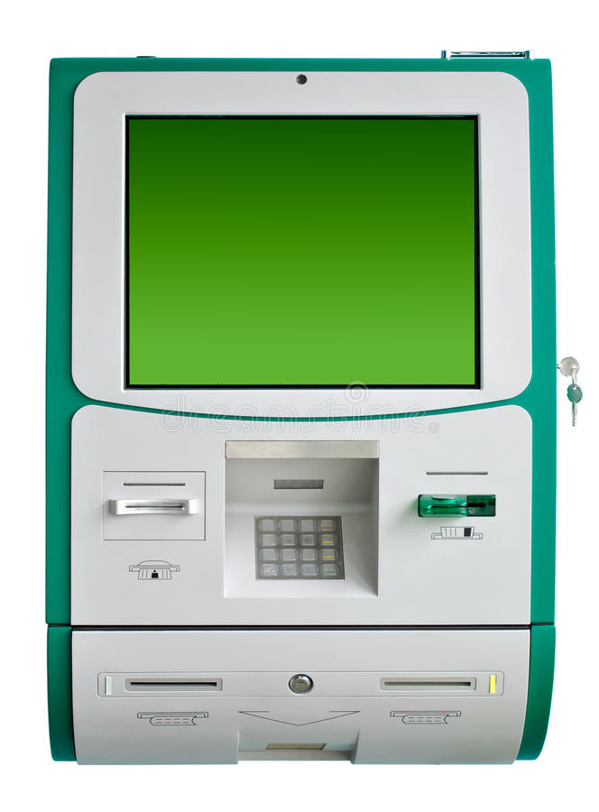 Download ATM machine isolated stock image. Image of identification - 18445461