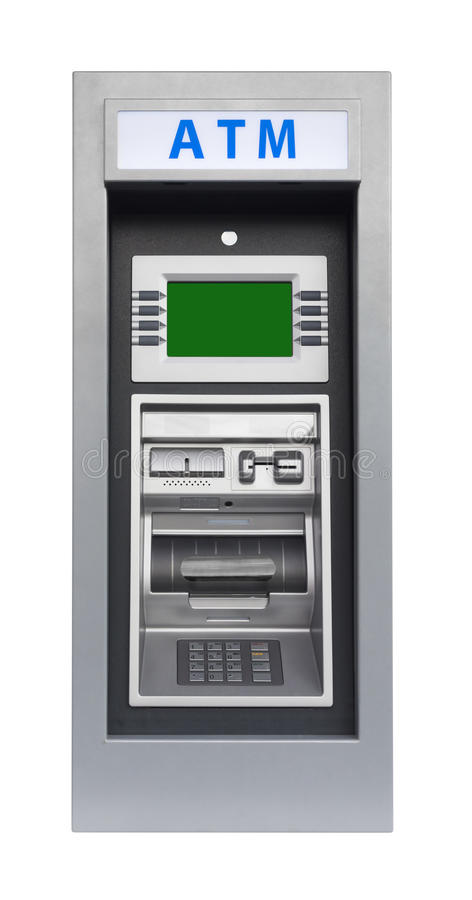 Atm Machine, isolated royalty free stock photography