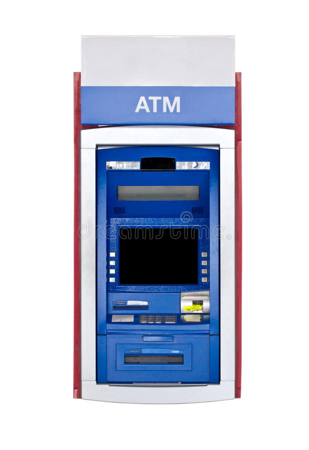 Atm Machine. Atm Machine Isolated on White royalty free stock images
