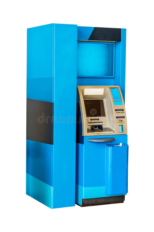 Atm Machine Isolated on White with clipping path. stock photography