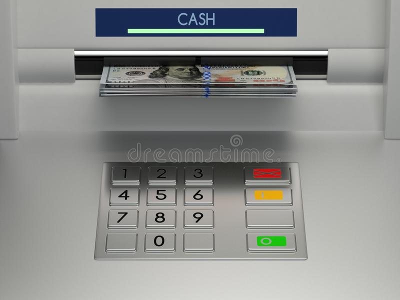 Atm machine keypad stock photos