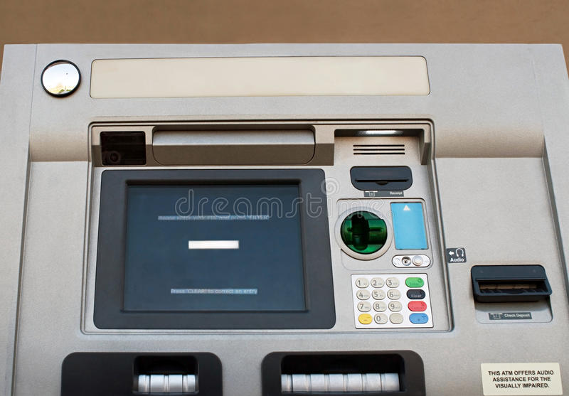 ATM Machine, Low View Stock Images
