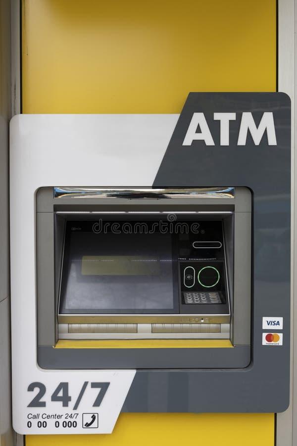 ATM Machine nobody electronic banking cards bank stock photo