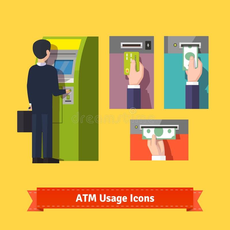 ATM-machinestorting stock illustratie
