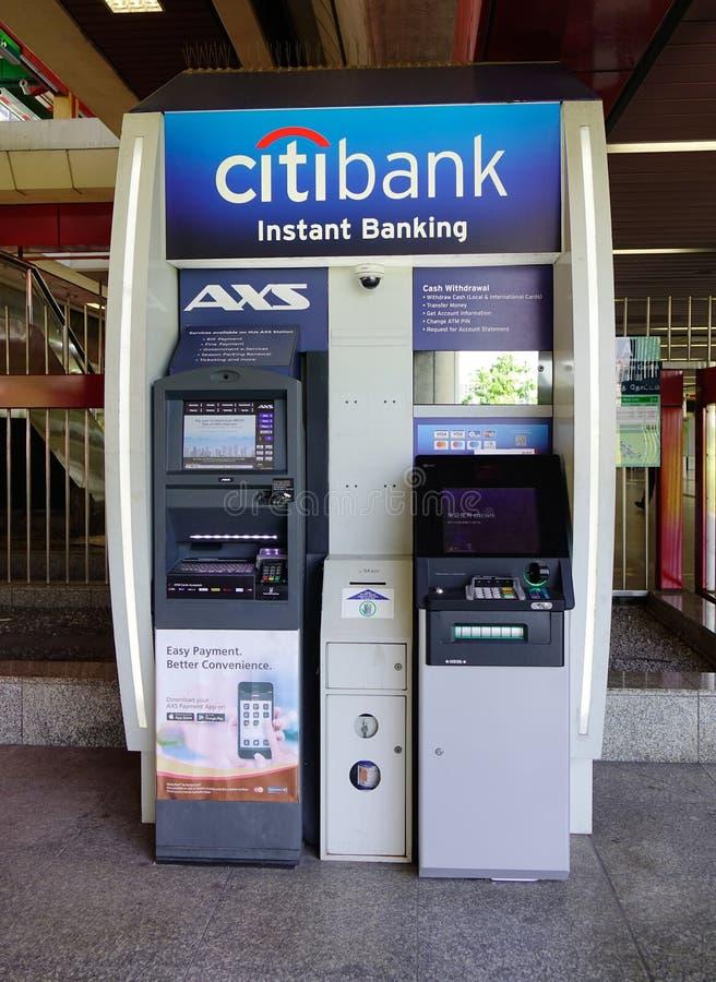 Atm-maskiner av Citibank royaltyfria foton