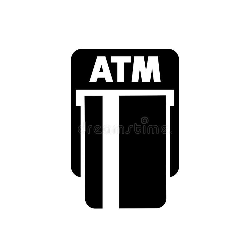 Atm-maskinsymbol som återtar pengar från ATM som på kontokort—vektor royaltyfri illustrationer