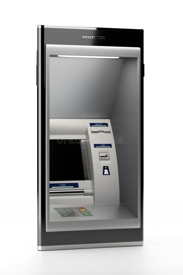 ATM maszyna na ścianie royalty ilustracja