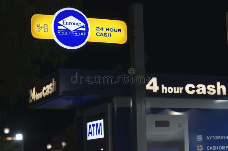 ATM openen 24 uren royalty-vrije stock fotografie