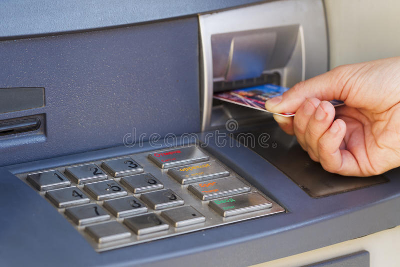 ATM para o dinheiro imagem de stock royalty free