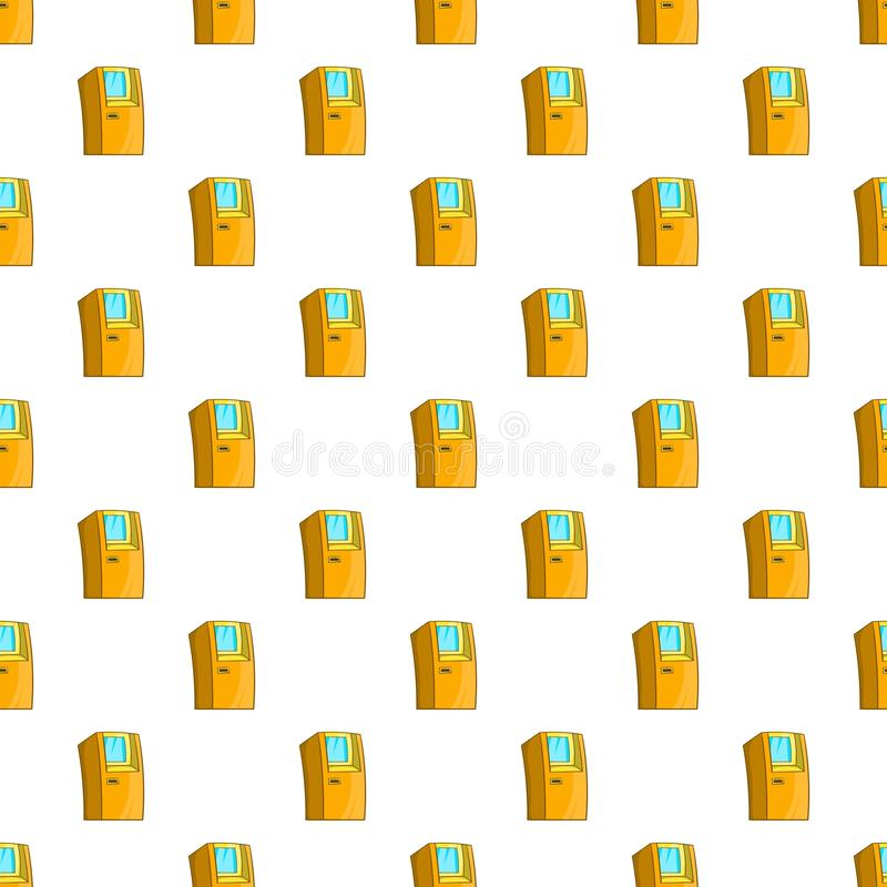 Atm pattern, cartoon style. Atm pattern. Cartoon illustration of atm vector pattern for web stock illustration