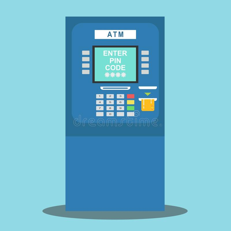 ATM payment vector illustration. vector illustration