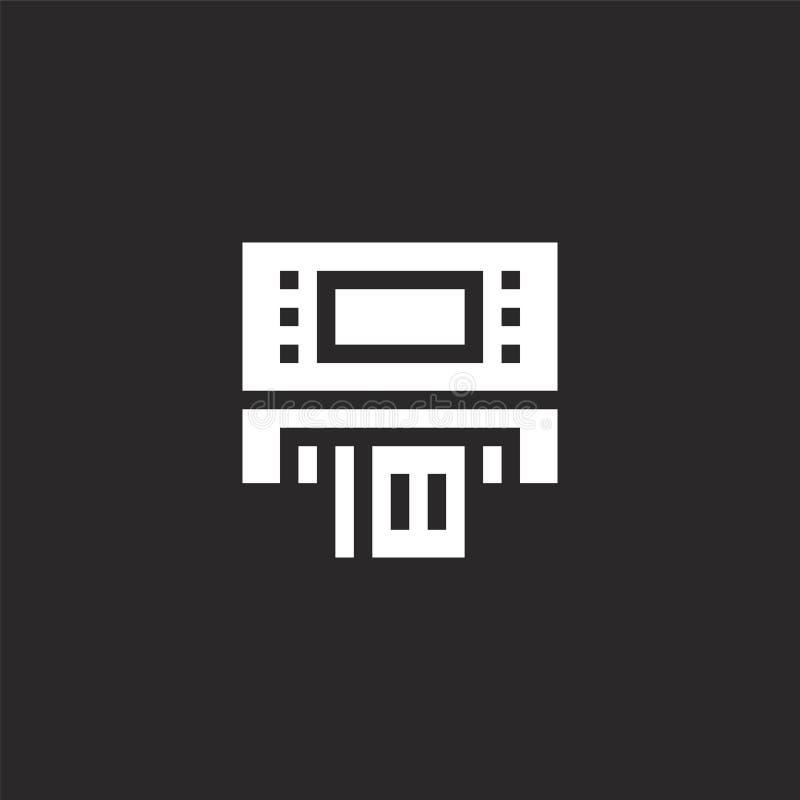 ATM-pictogram Gevuld ATM-pictogram voor websiteontwerp en mobiel, app ontwikkeling ATM-pictogram van gevulde reisinzameling die o vector illustratie