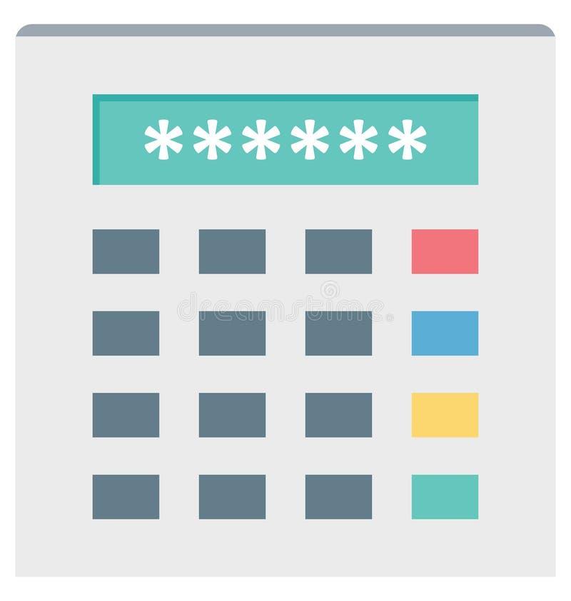 ATM Pin Color Isolated Vector Icon, das leicht geändert werden und redigieren kann lizenzfreie abbildung