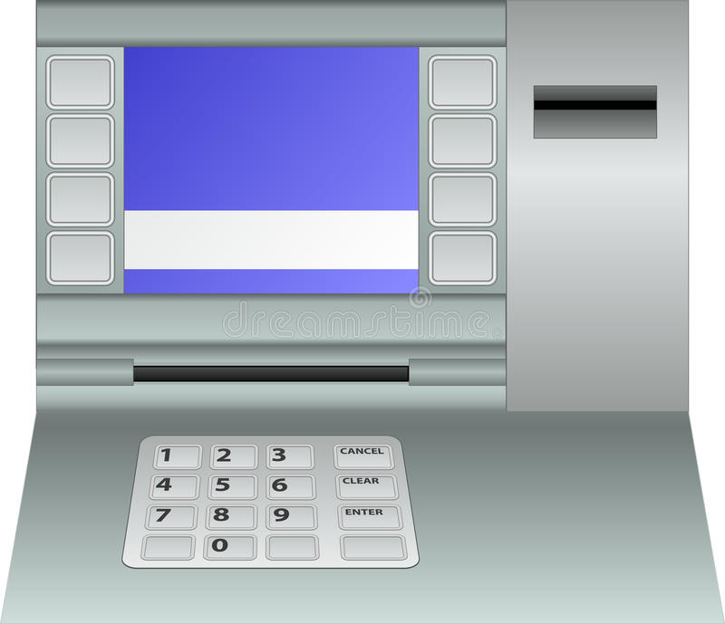ATM-Platte lizenzfreie abbildung